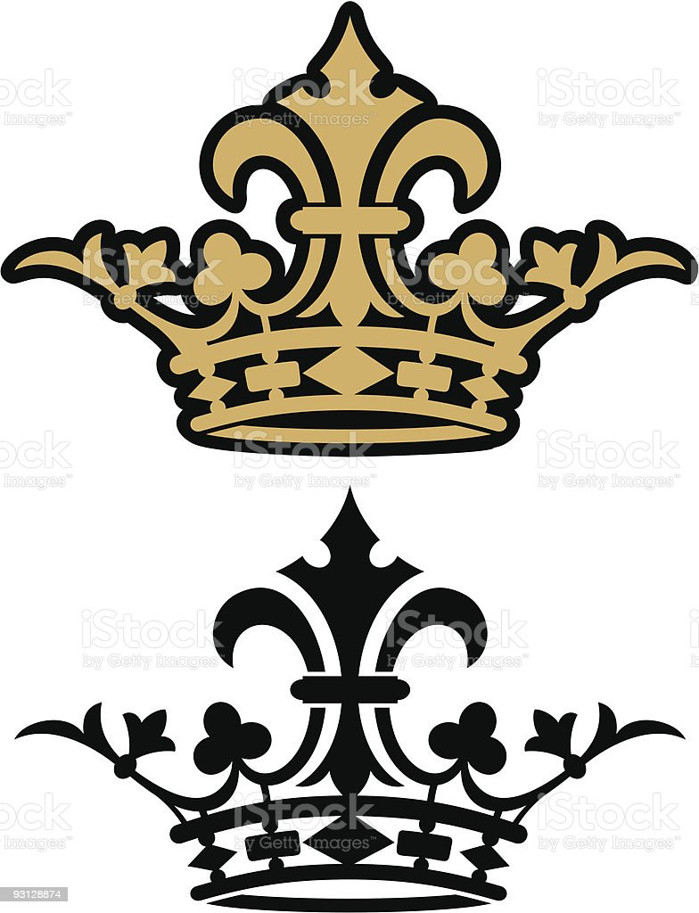 Crown Icon royalty-free stock vector art