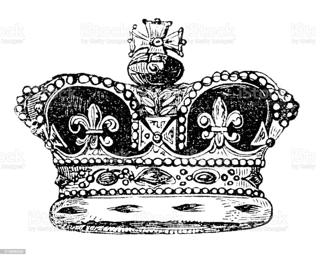 Crown of England vector art illustration