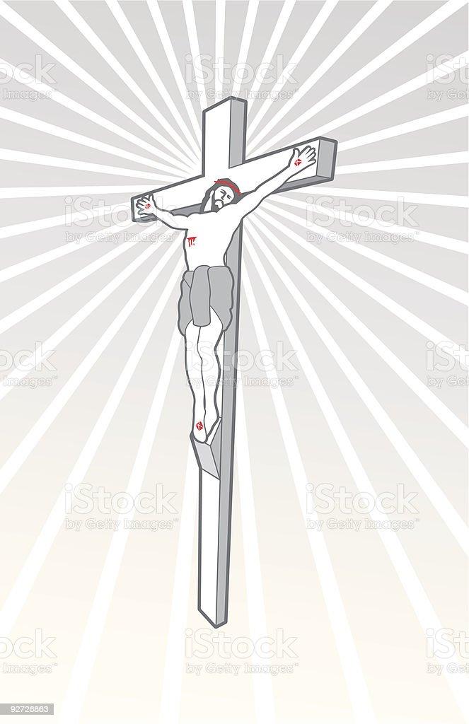 Crucifix vector art illustration