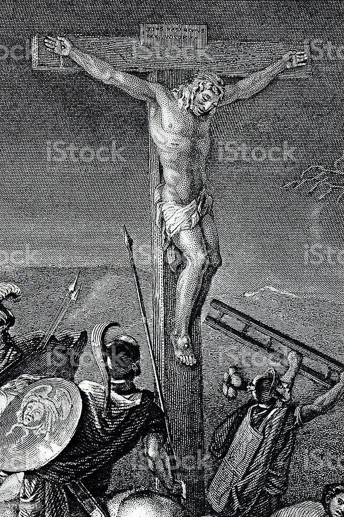 Crucifixion royalty-free stock vector art