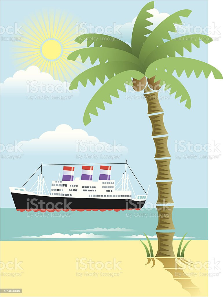Cruise royalty-free stock vector art
