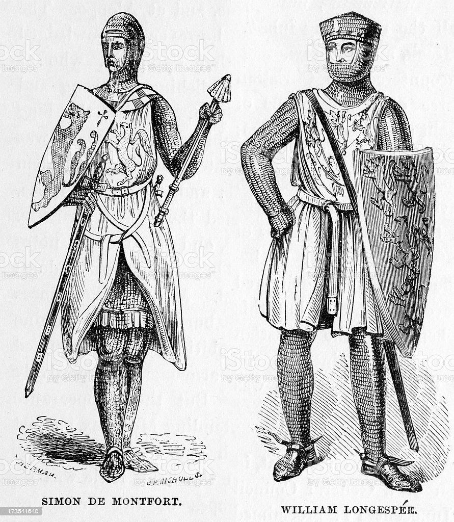 Crusaders vector art illustration