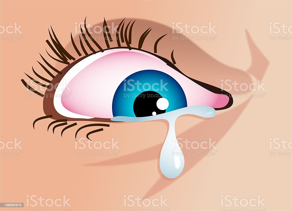 Cry royalty-free stock vector art