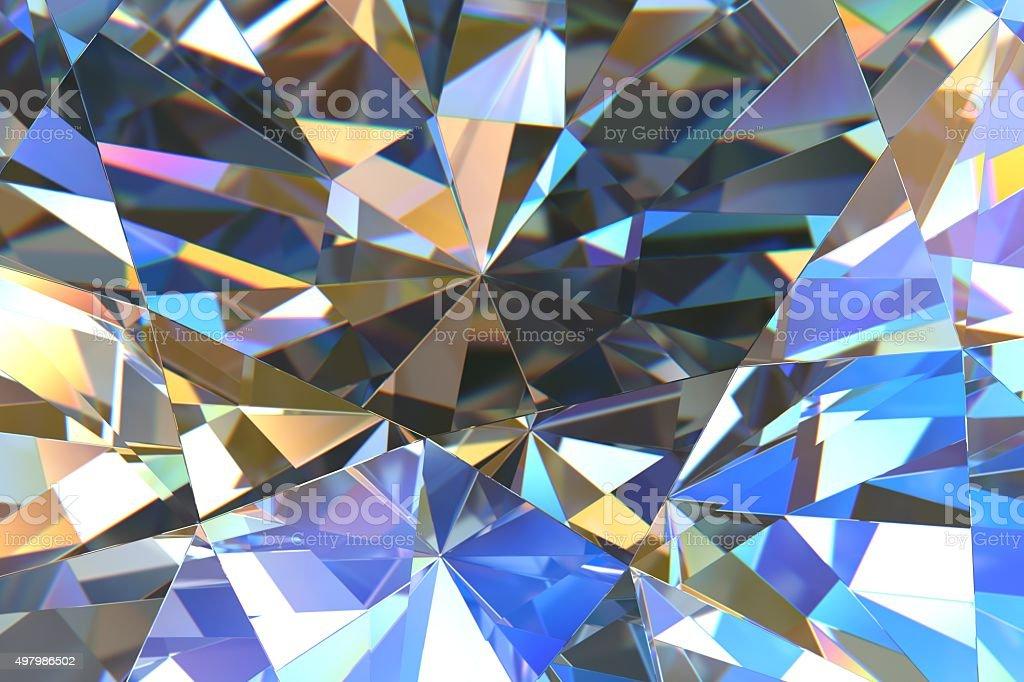 Crystal abstract vector art illustration