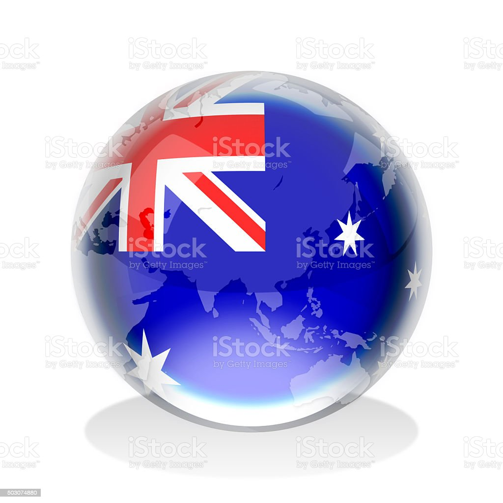 Crystal sphere of australian flag with world map stock vector art crystal sphere of australian flag with world map royalty free stock vector art gumiabroncs Image collections
