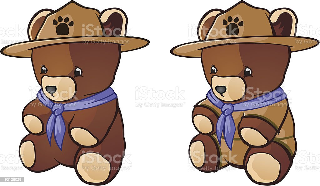 Cub Scout Teddy Bear royalty-free stock vector art