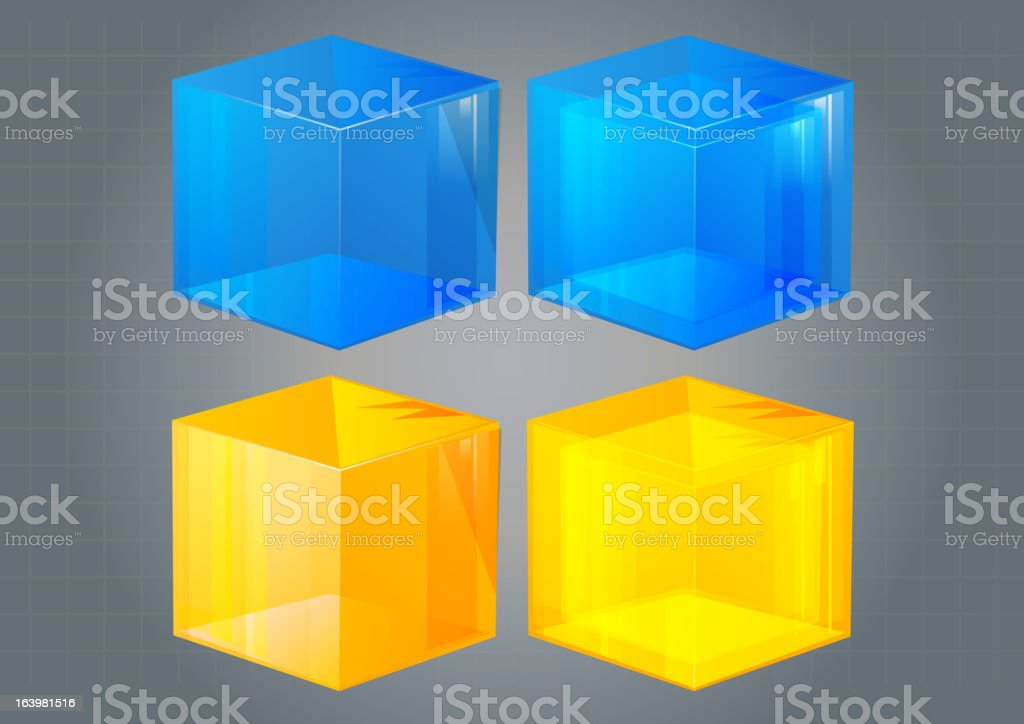 Cube Icon royalty-free stock vector art