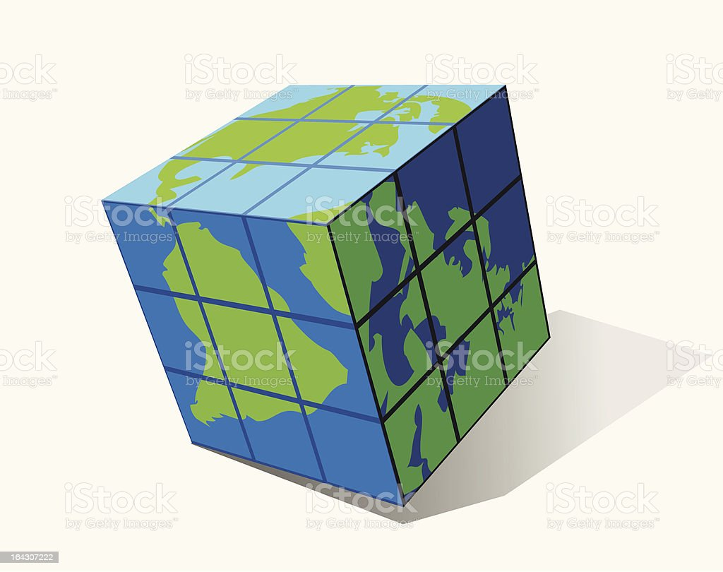 Cube royalty-free stock vector art