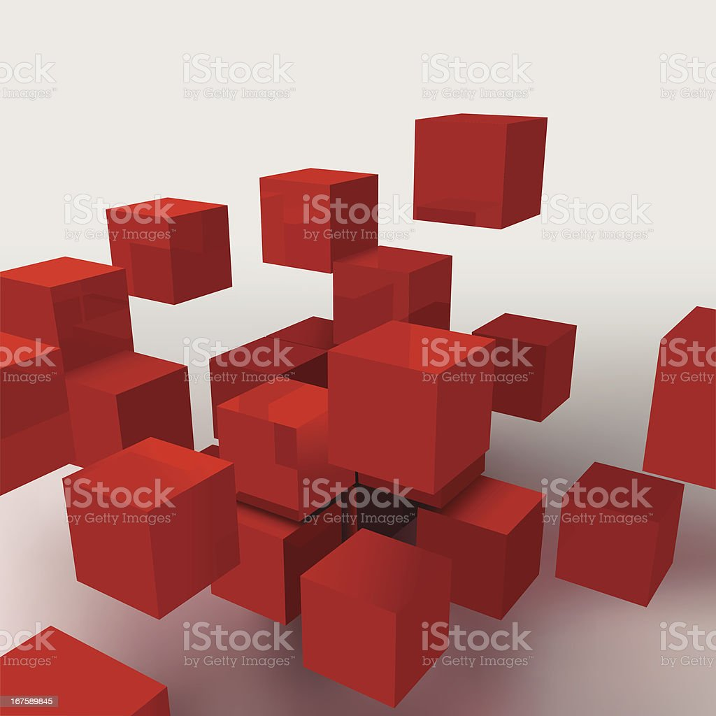cube royalty-free stock vector art