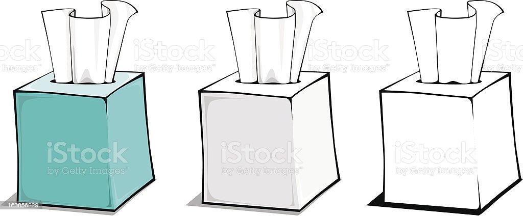 Cube Tissue Box royalty-free stock vector art