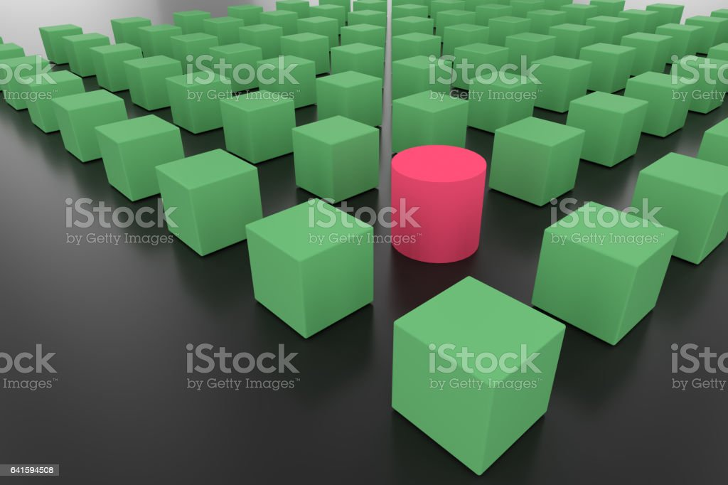 cubes for team leader concept vector art illustration