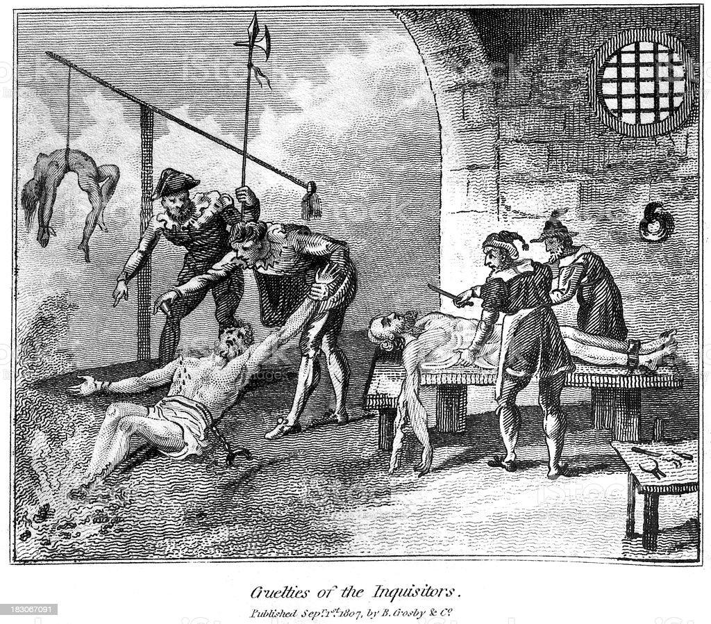 Cuelties of the Inquisitors vector art illustration