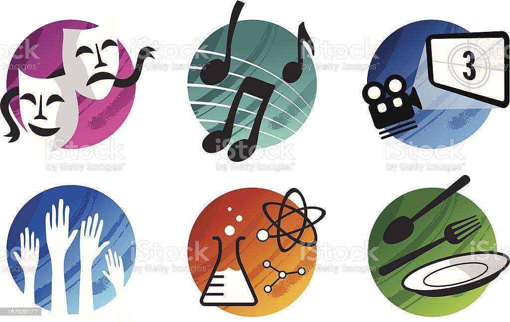Culture Icon Set vector art illustration