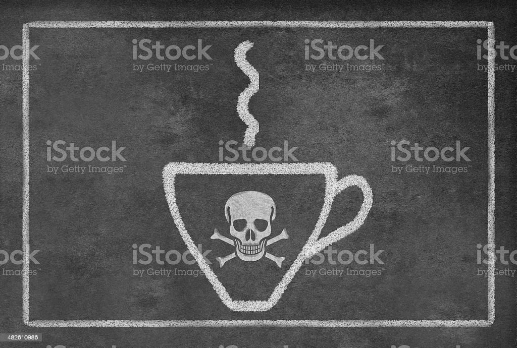 Cup of Deadly Hot Coffee vector art illustration