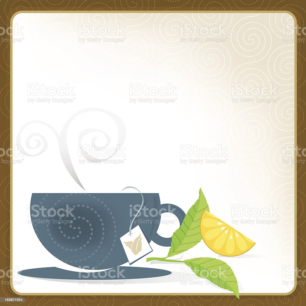 Cup of Tea Frame royalty-free stock vector art