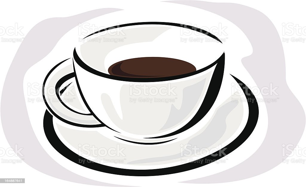 Cup with Coffee (Vector) royalty-free stock vector art