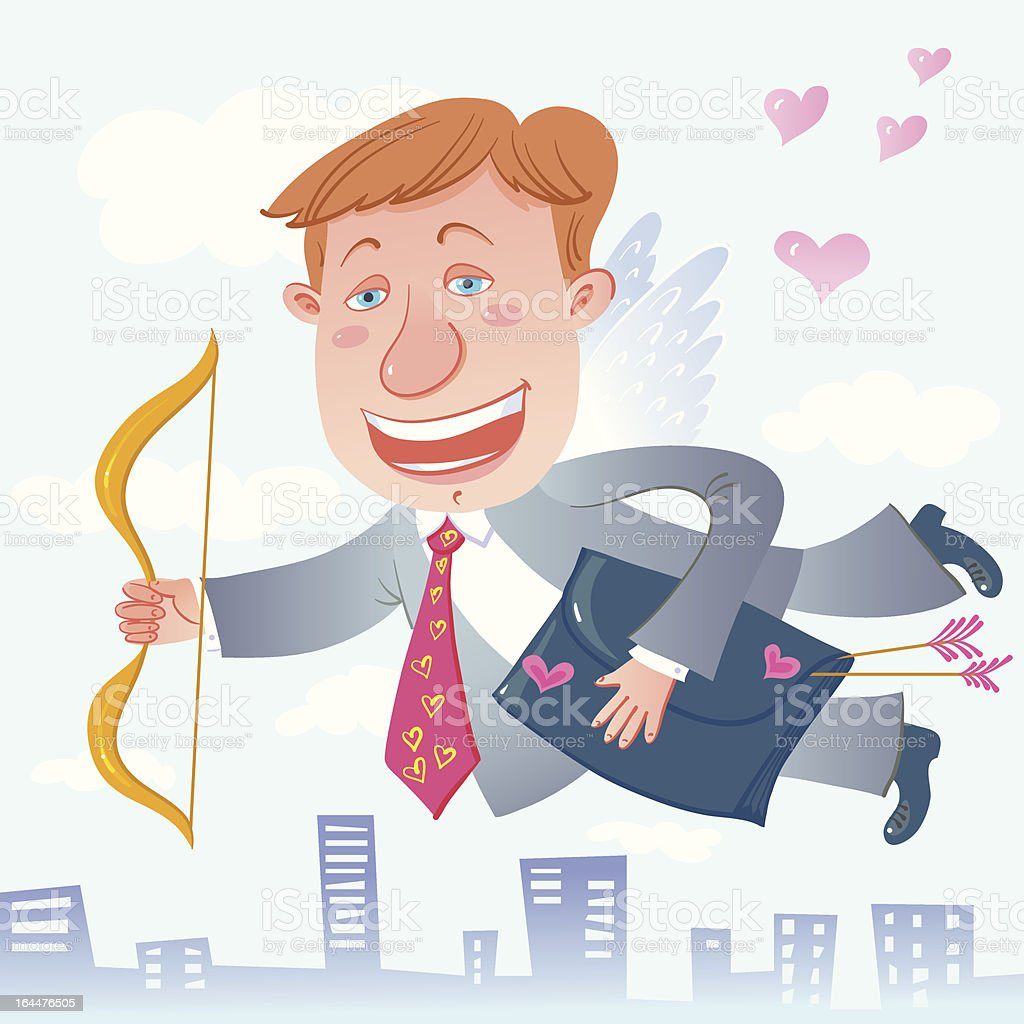 Cupid Businessman. royalty-free stock vector art