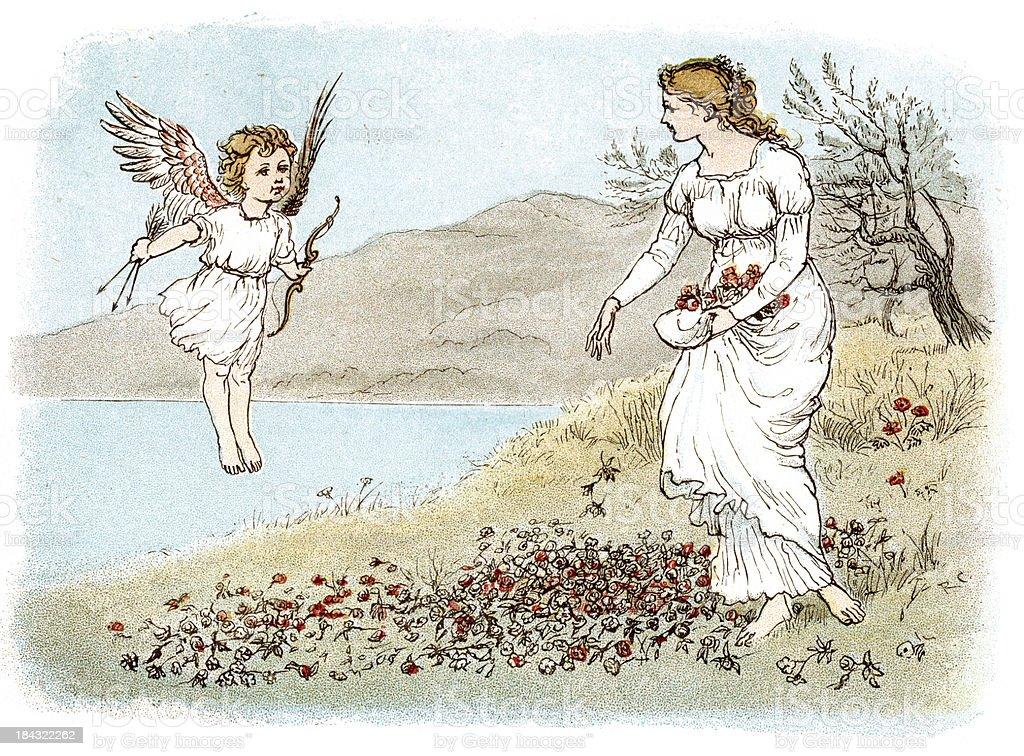 Cupid royalty-free stock vector art