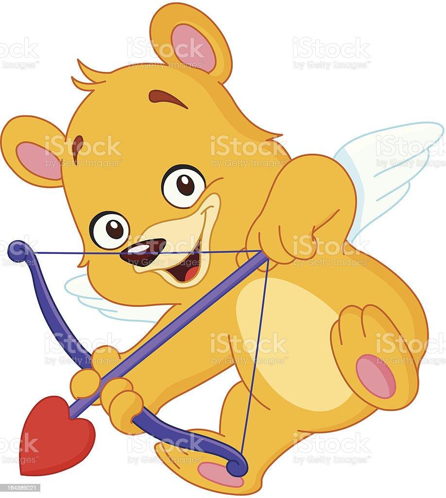 Cupid teddy bear royalty-free stock vector art
