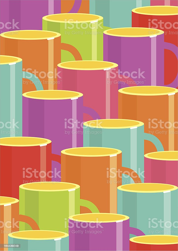 cups of coffee background design vector art illustration