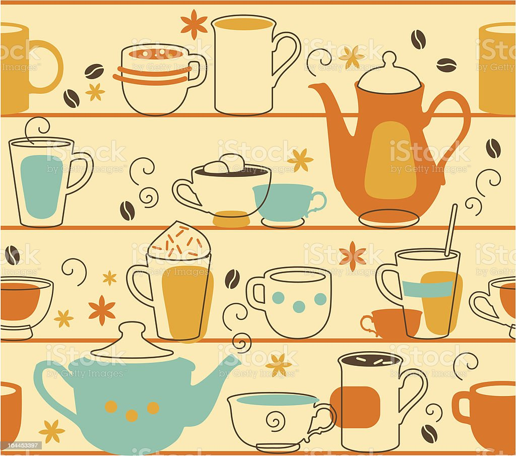 Cups Seamless royalty-free stock vector art