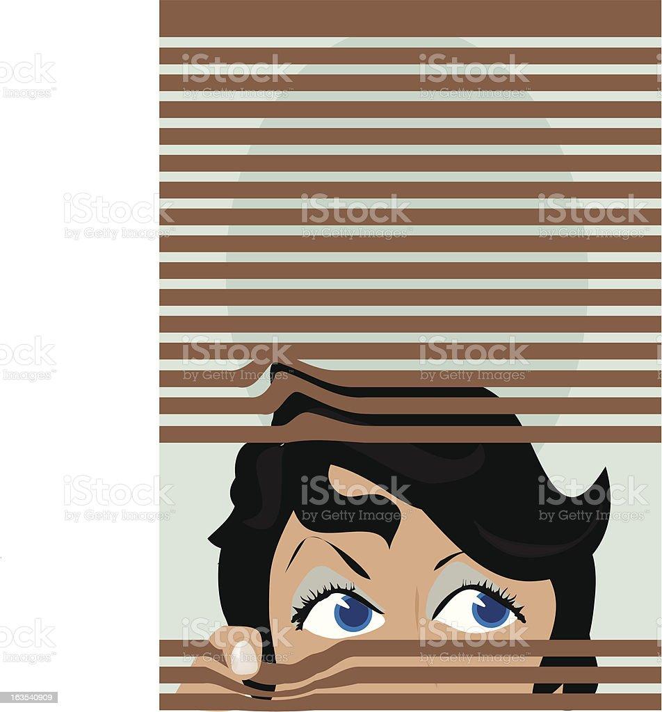 Curious royalty-free stock vector art