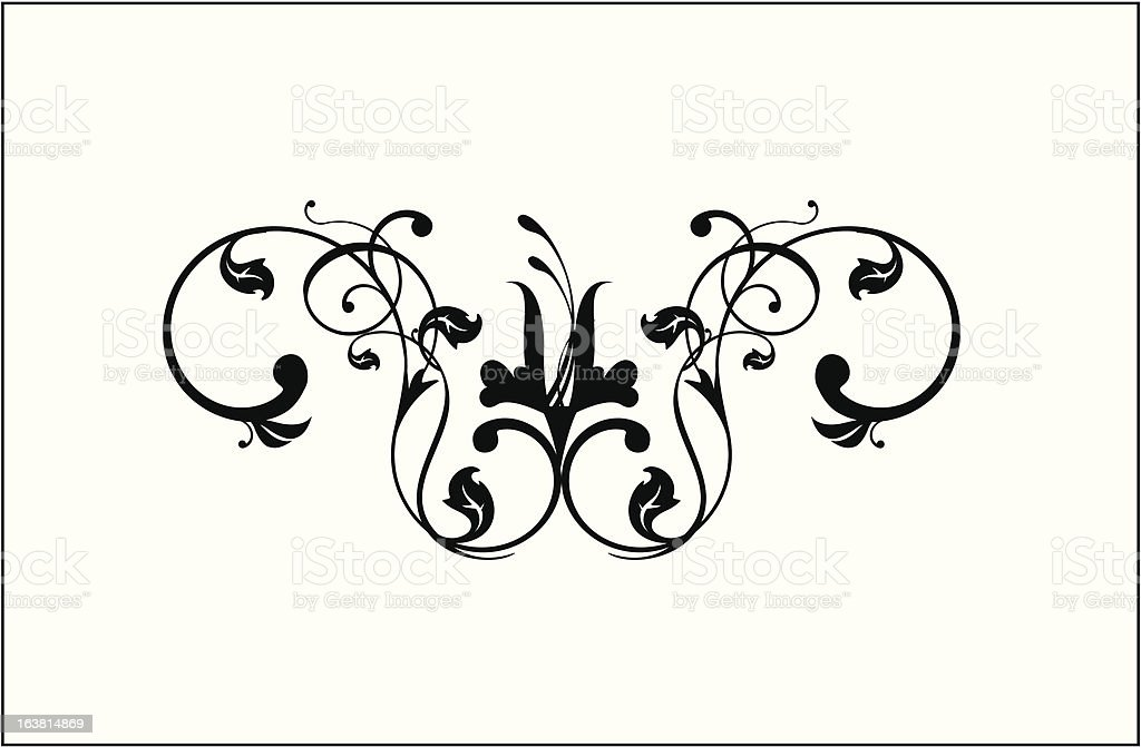 curled decoration royalty-free stock vector art
