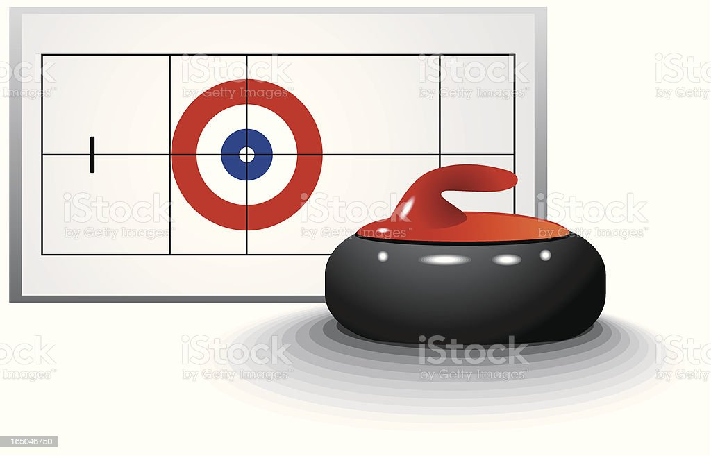 Curling royalty-free stock vector art