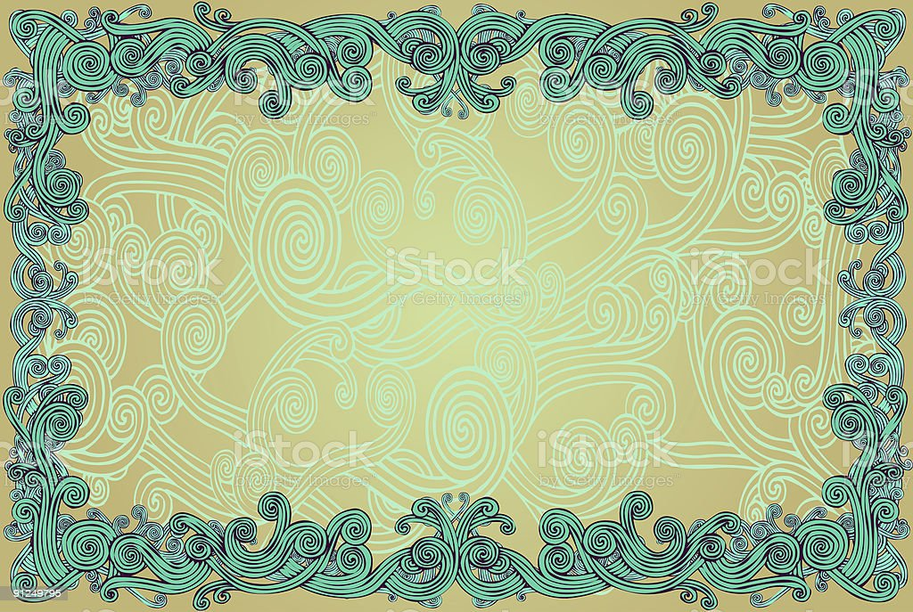 Curly Border royalty-free stock vector art