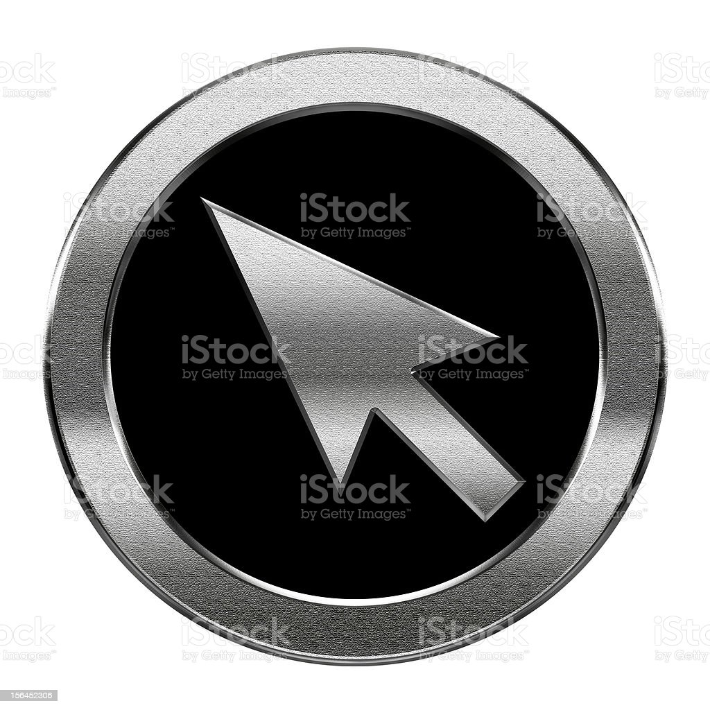 cursor icon silver, isolated on white background royalty-free stock vector art