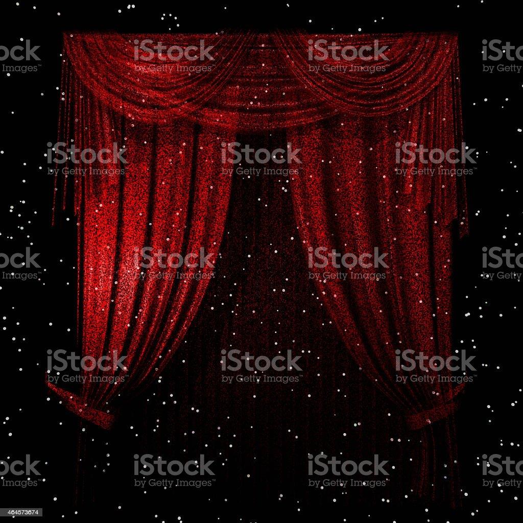 Curtain vector art illustration