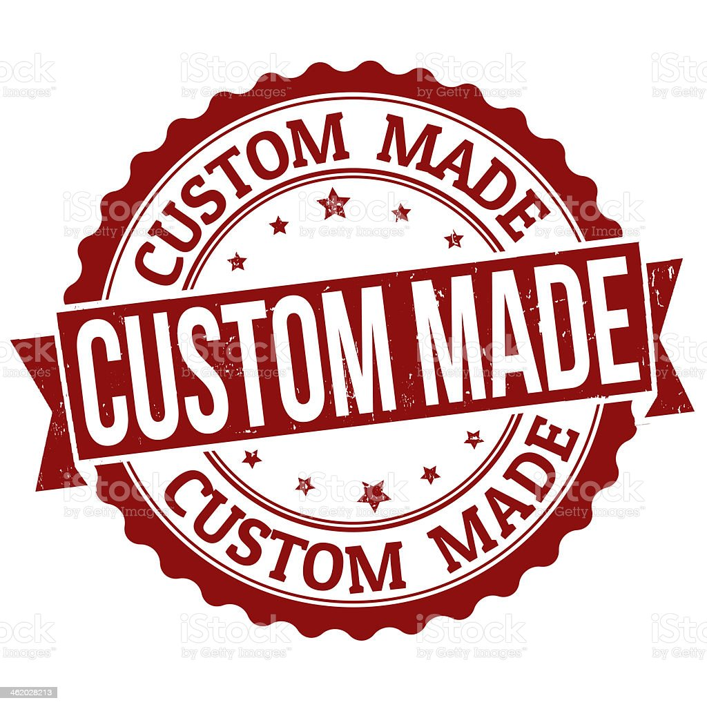 Custom Made stamp vector art illustration
