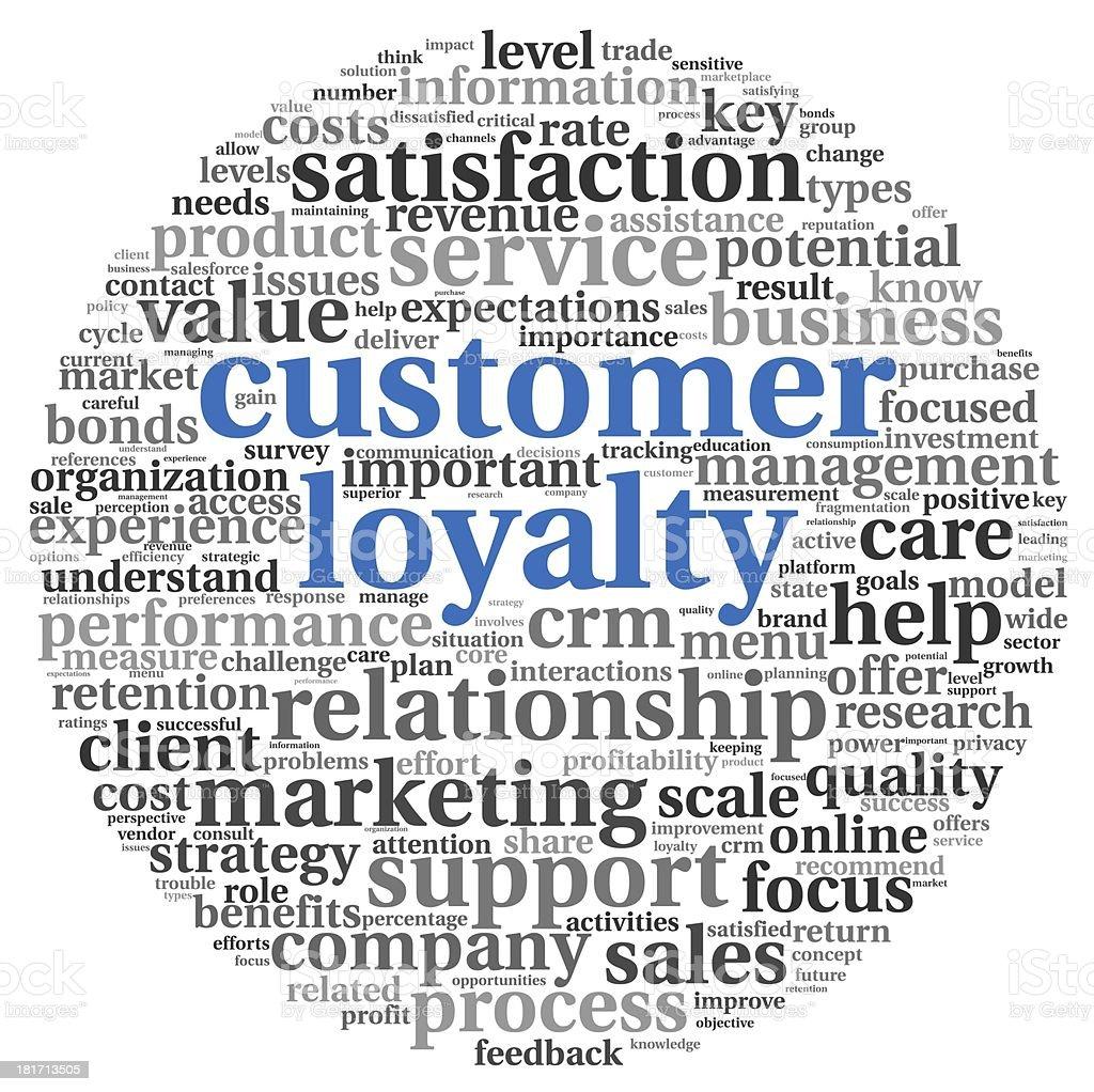 Customer loyalty concept on white vector art illustration