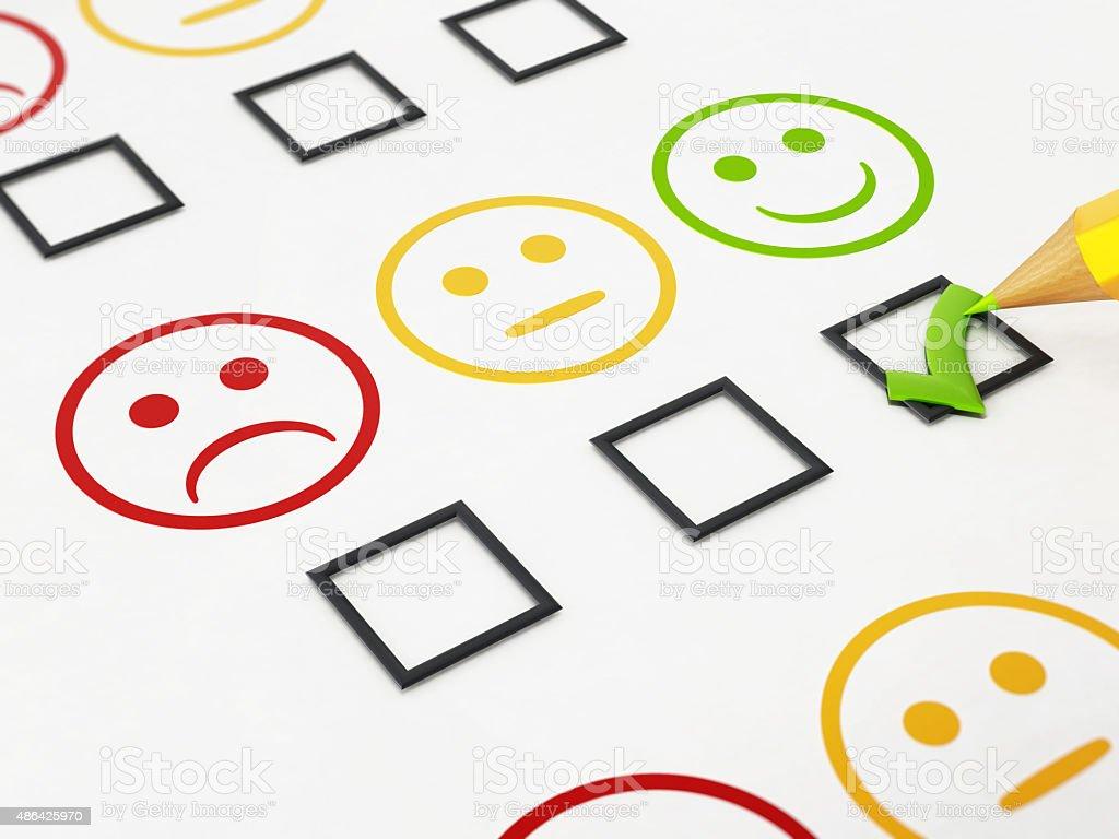 Customer satisfaction survey vector art illustration