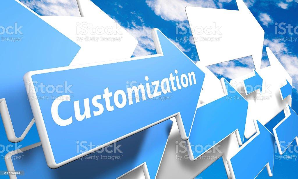 Customization vector art illustration