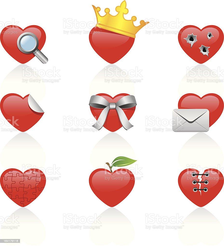 cut heart part II royalty-free stock vector art