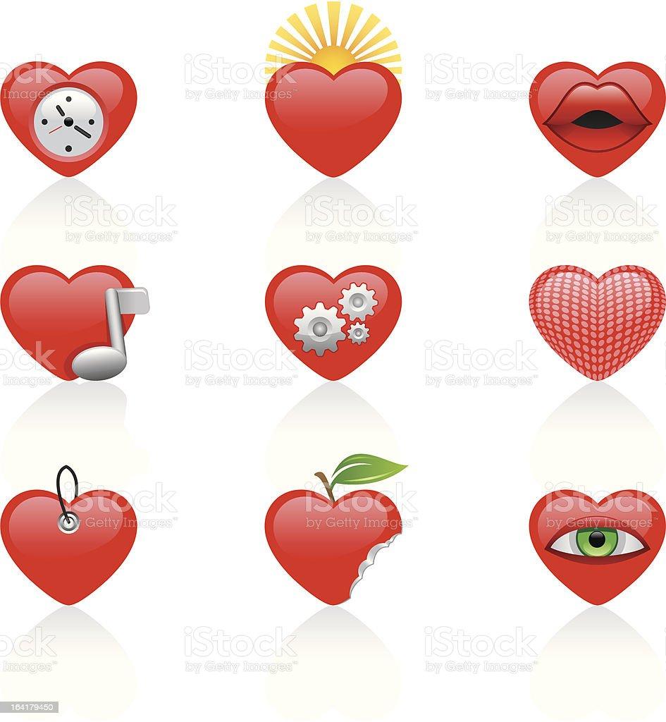 cut heart part IV royalty-free stock vector art