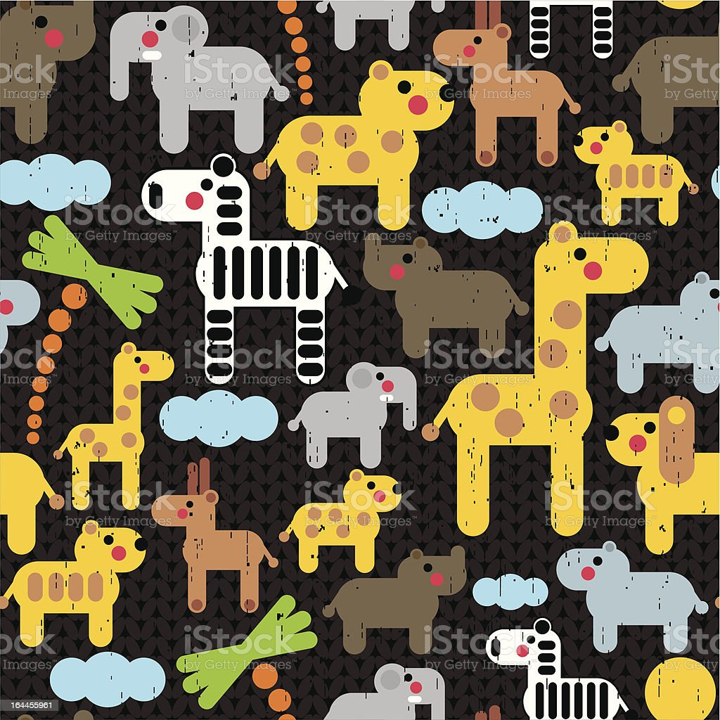 Cute african animals seamless pattern. royalty-free stock vector art