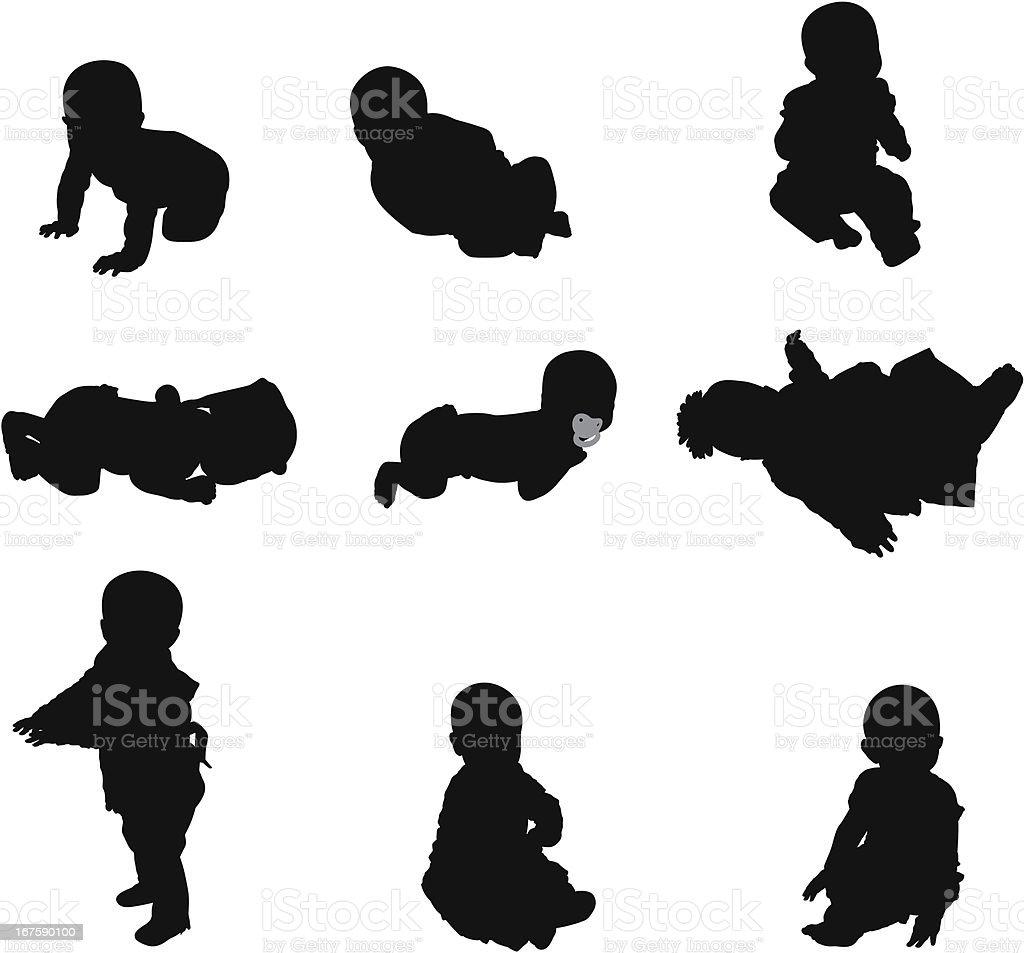 Cute babies royalty-free stock vector art