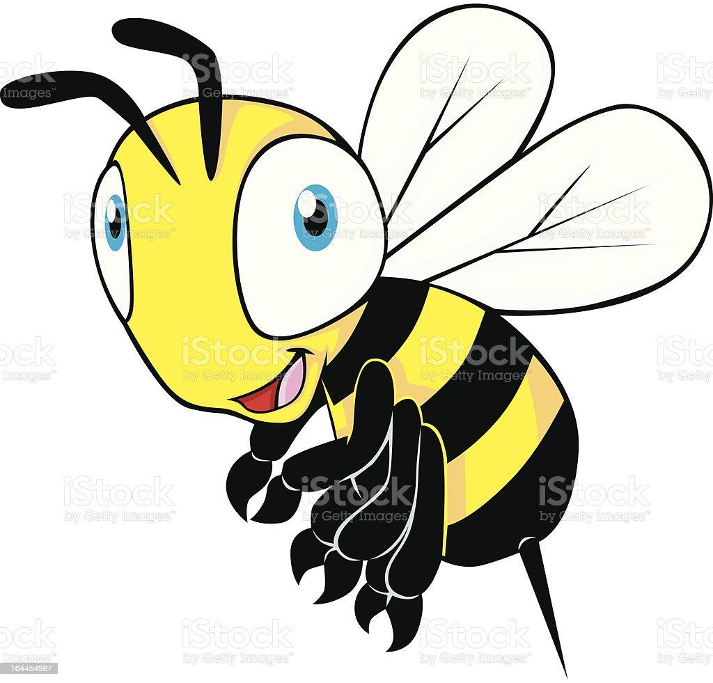 Cute Baby Bee Flying royalty-free stock vector art
