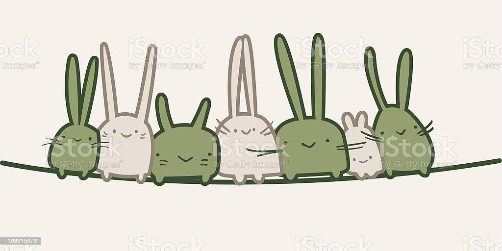 Cute Bunnies royalty-free stock vector art