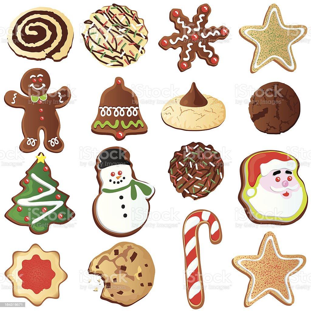 Cute Christmas Cookies vector art illustration