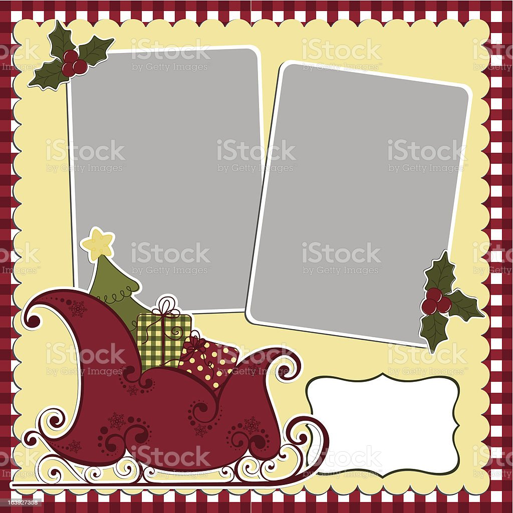 Cute christmas frame template royalty-free stock vector art