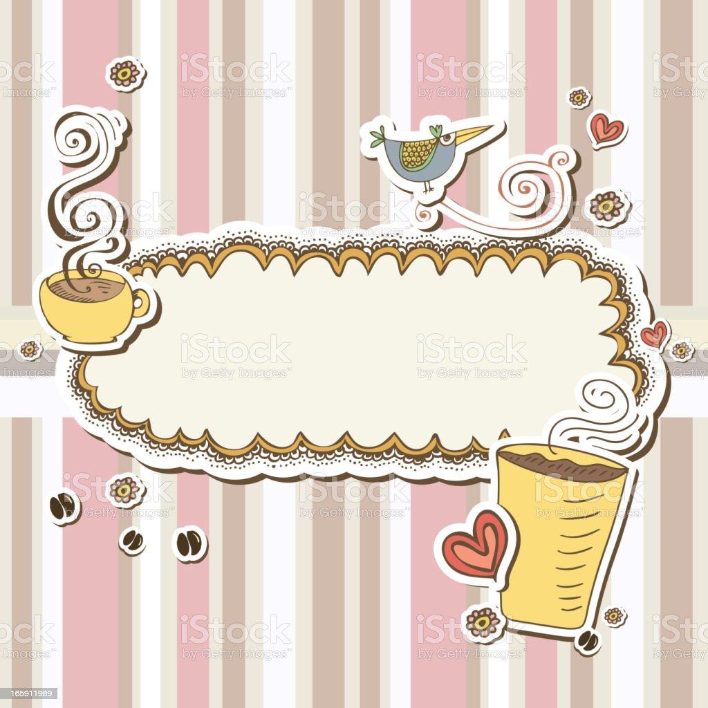 Cute coffee frames royalty-free stock vector art