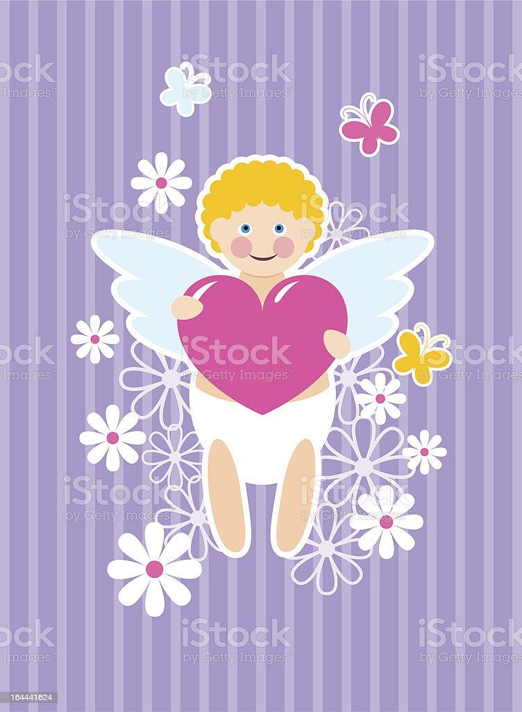 Cute cupid royalty-free stock vector art