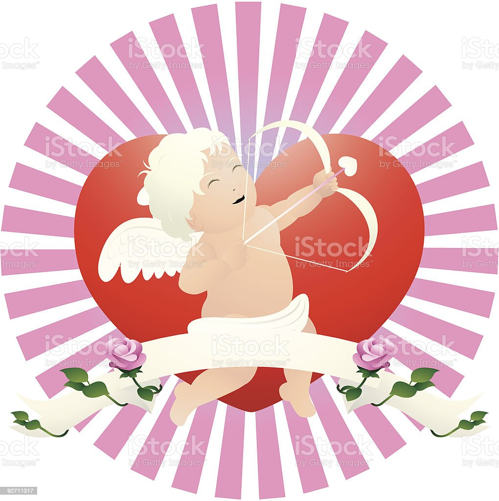 cute cupid royalty-free stock vector art