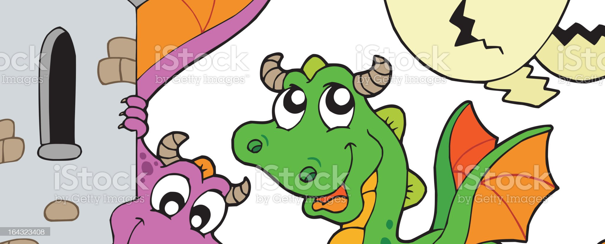 Cute dragons collection royalty-free stock vector art
