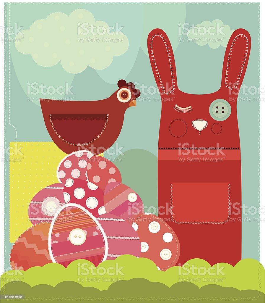 Cute Easter Card royalty-free stock vector art