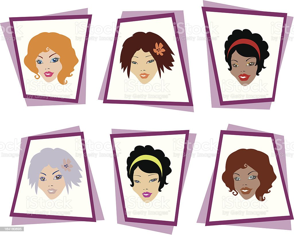 Cute face variations royalty-free stock vector art
