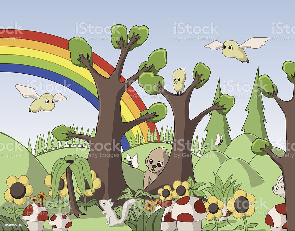 Cute Forest royalty-free stock vector art